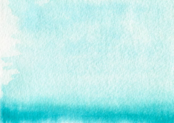 backgrounds blue color gradient watercolor pastel texture - turquoise colored stock photos and pictures