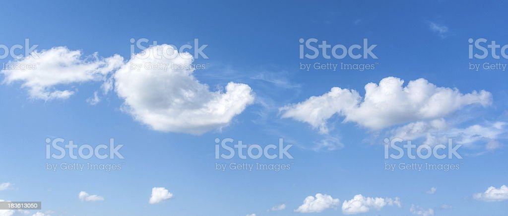 Backgrounds blue sky with clouds royalty-free stock photo