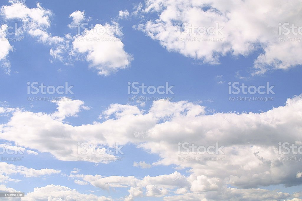 Backgrounds: Clouds royalty-free stock photo