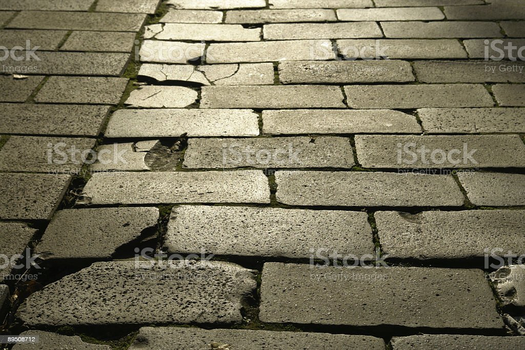 Backgrounds: Cobblestone Walkway royalty-free stock photo