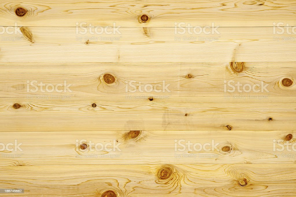 Backgrounds:  Knoty Pine Wood Panel royalty-free stock photo