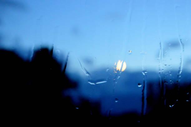 Backgrounds of beautiful rainy summernight stock photo