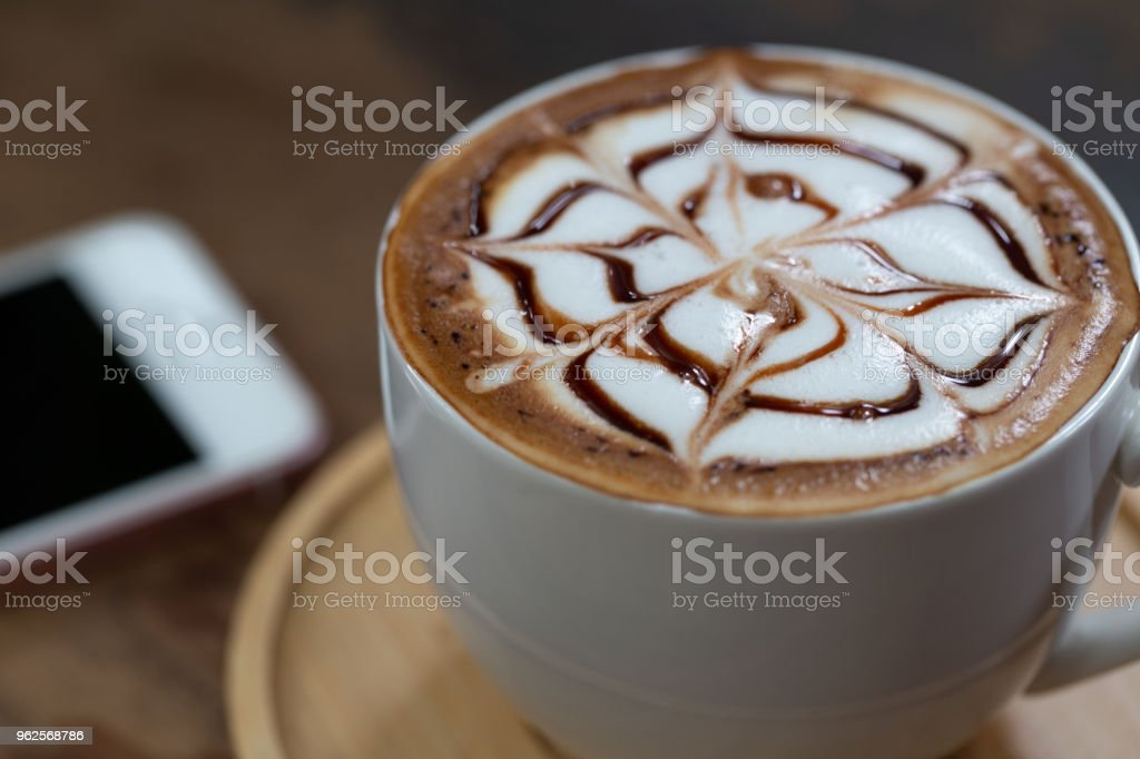 Backgrounds of Latte coffee. stock photo