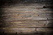 istock Backgrounds: old wooden plank with horizontal stripes 1176374254