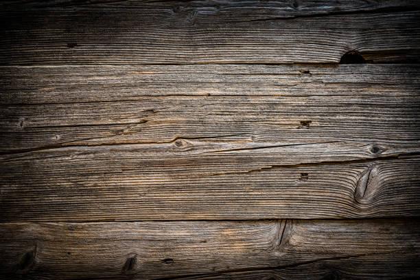 Hintergrund: alte Holzplanke mit horizontalen Streifen – Foto
