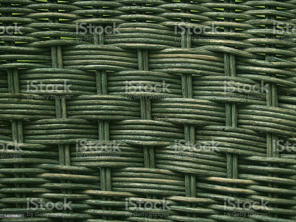 'Backgrounds: Patterns': Greenish Old Wicker Weave stock photo