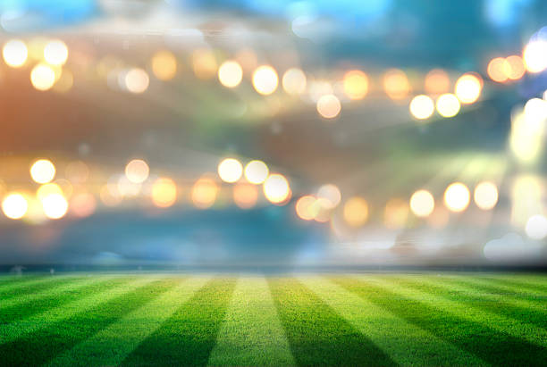 backgrounds - soccer field stock photos and pictures