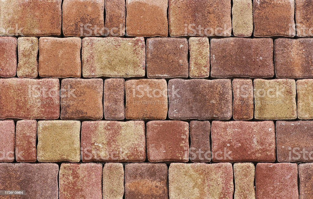 Backgrounds - Red Pavement royalty-free stock photo