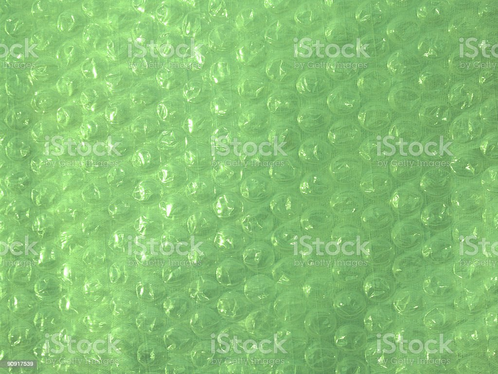 'Backgrounds: Textural': Bubble Wrap in Lime Green royalty-free stock photo