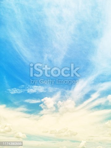 istock Backgrounds vintage soft sky with sunlight 1174390555