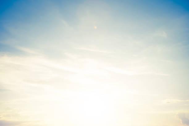 背景復古柔和的天空與陽光 - sky 個照片及圖片檔