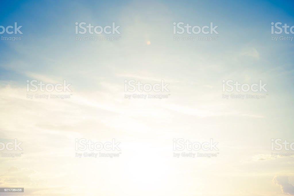 backgrounds vintage soft sky with sunlight stock photo