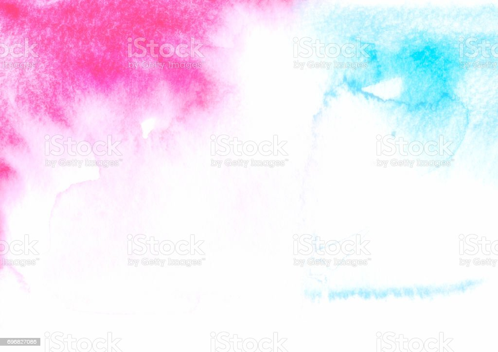 Backgrounds Watercolor Painting Abstract Red Blue Fog stock photo
