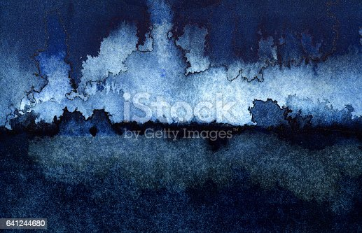 istock Backgrounds Watercolor Painting Blue Sky Cloud Sea Storm 641244680