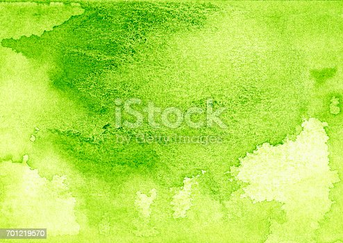 istock Backgrounds Watercolor Painting Green Abstract Texture 701219570