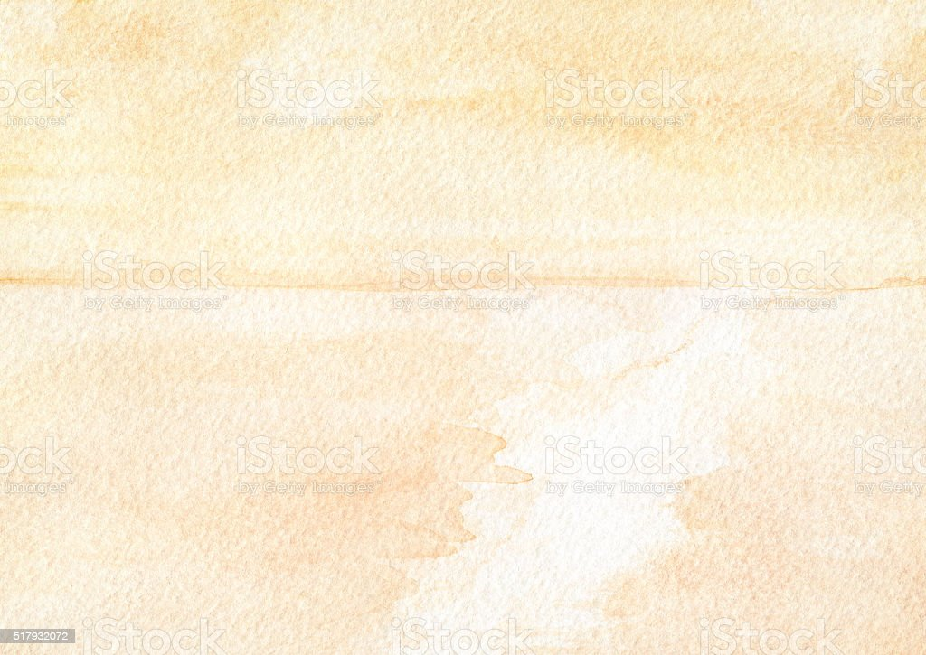 Backgrounds Watercolor Yellow Orange Sky Cloud Sea stock photo