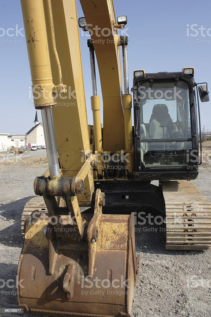 backhoe - front view royalty-free stock photo
