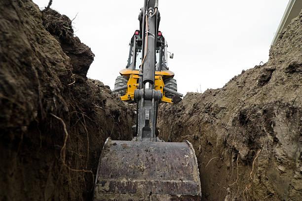 backhoe - excavator bildbanksfoton och bilder