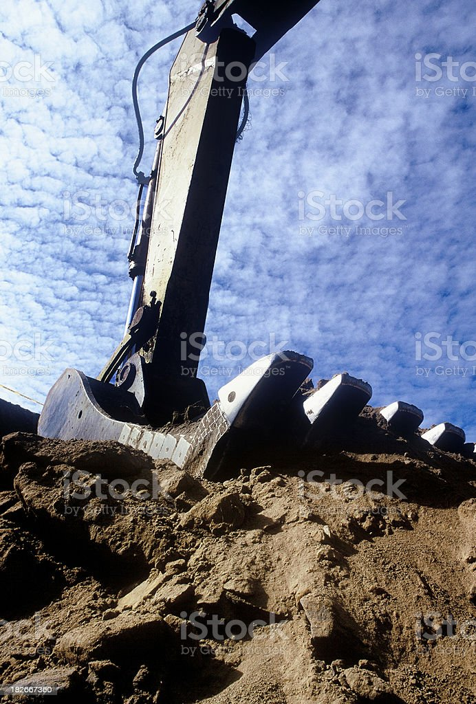 Backhoe royalty-free stock photo