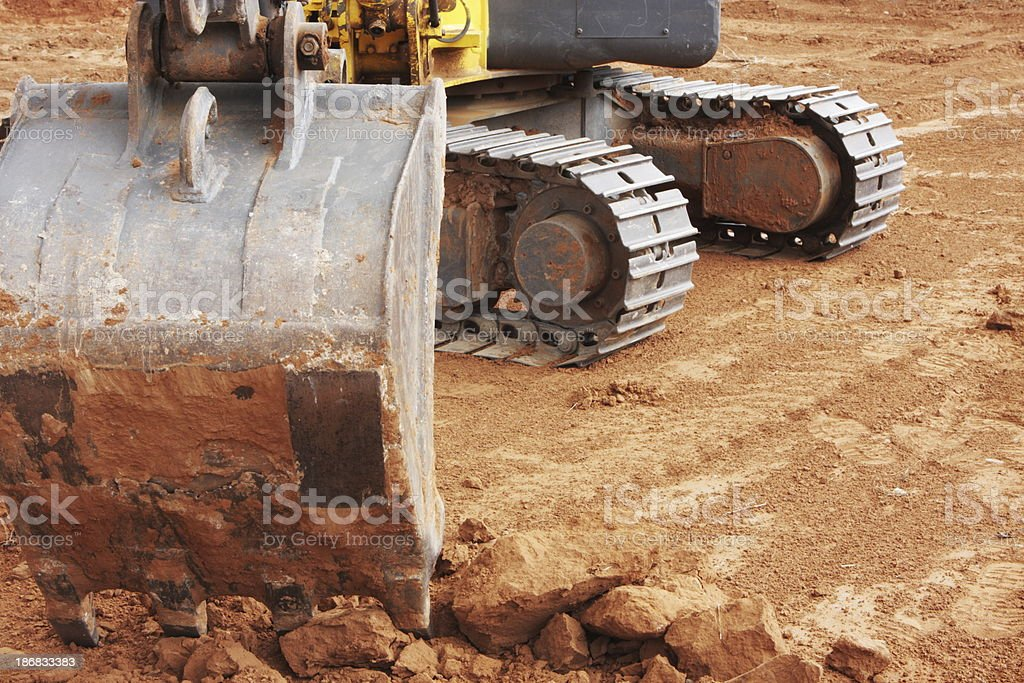 Backhoe Scoop Construction Tool royalty-free stock photo