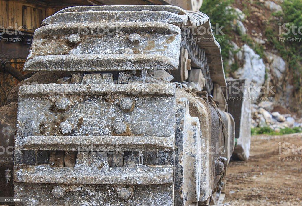 backhoe wheel royalty-free stock photo