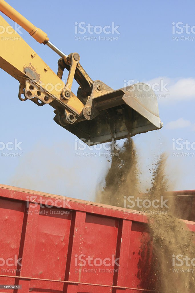 backhoe/dumptruck royalty-free stock photo