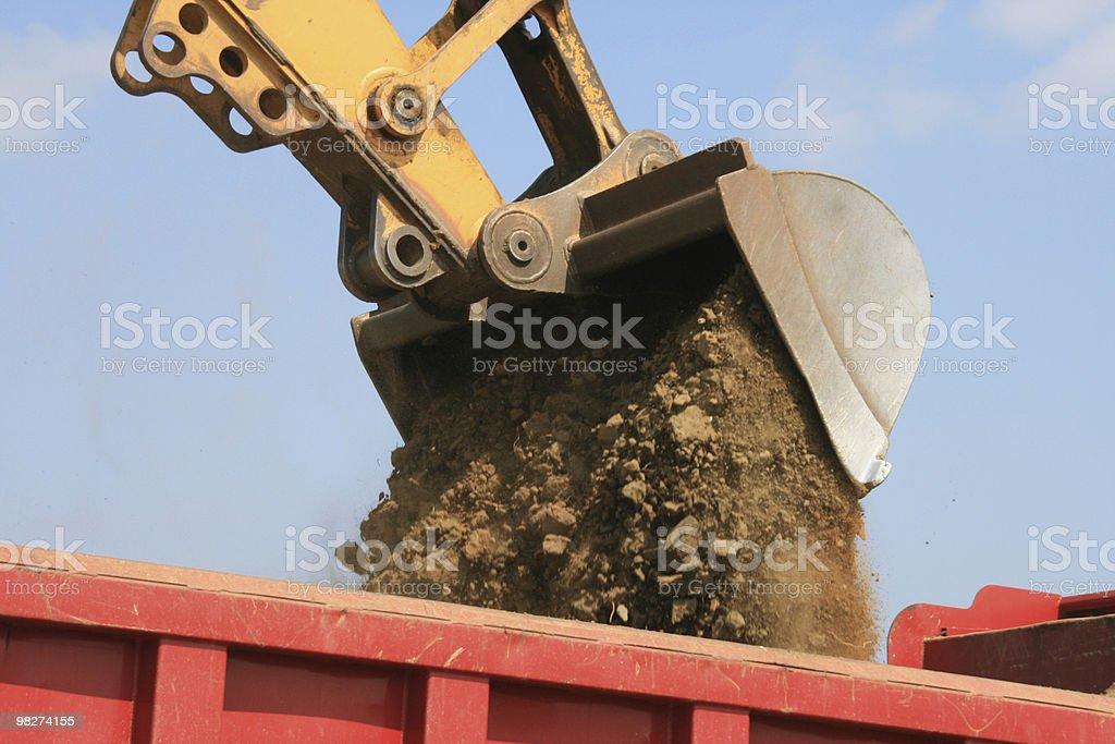 escavatore a cucchiaia rovescia/Dumper rigidi foto stock royalty-free