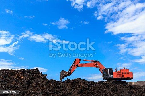 istock Backhole and Coal 483717870