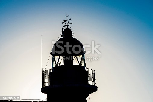 615497916 istock photo Backlighting of a lighthouse 615497826
