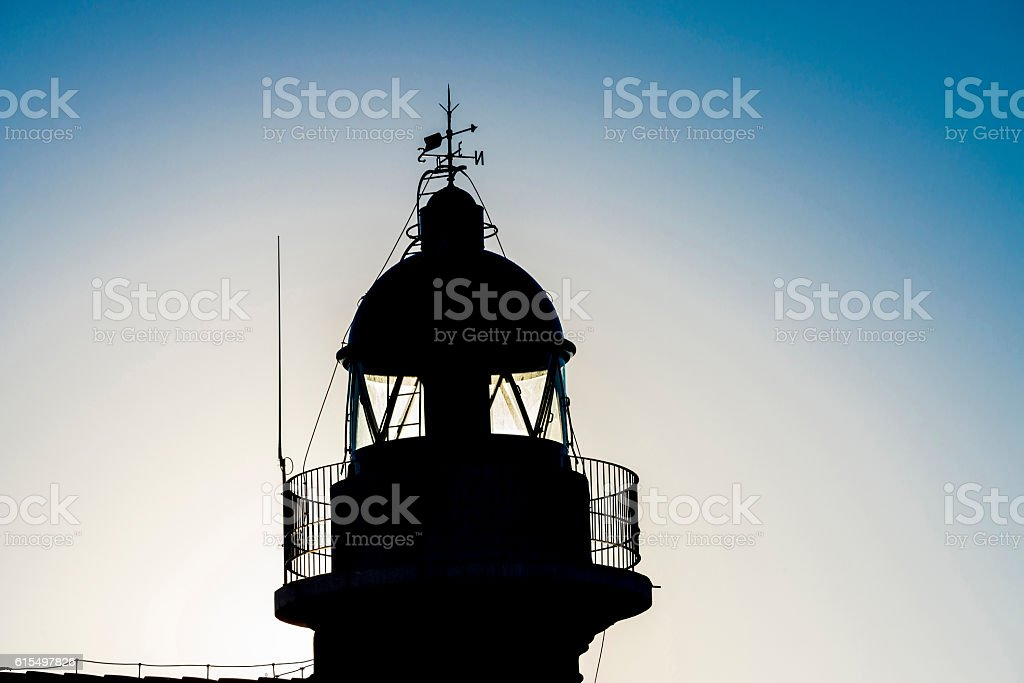 Backlighting of a lighthouse stock photo