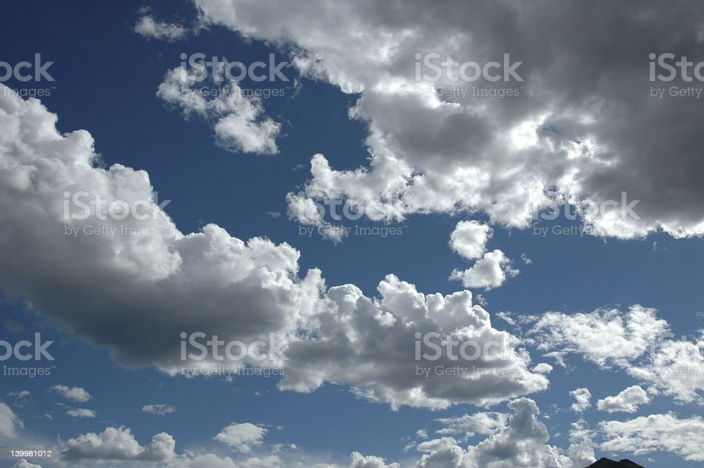 Backlit Clouds stock photo