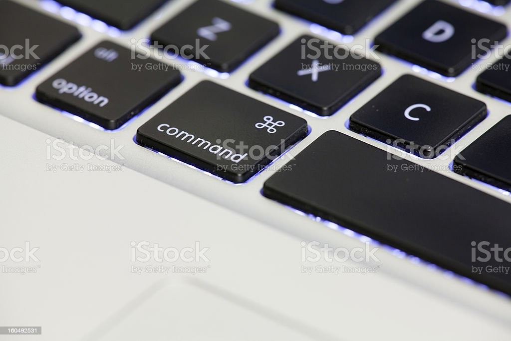 Backlit Computer Keyboard royalty-free stock photo