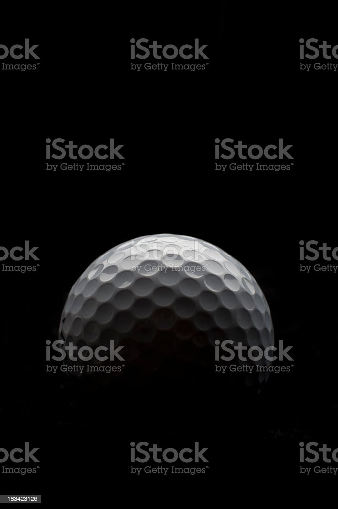 Backlit golf ball royalty-free stock photo