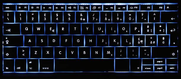 Ein leuchtendes Tastatur – Foto