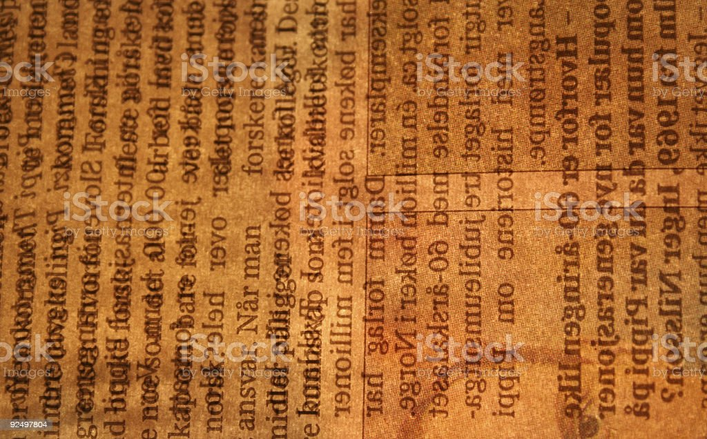 Backlit newspaper texture royalty-free stock photo