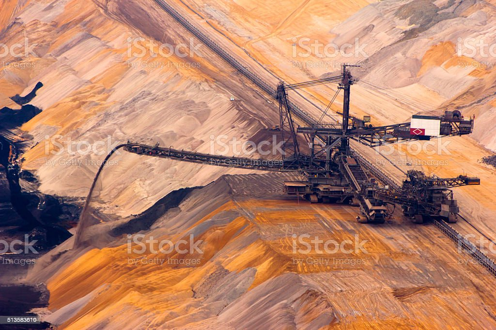 Backloader in quarry stock photo