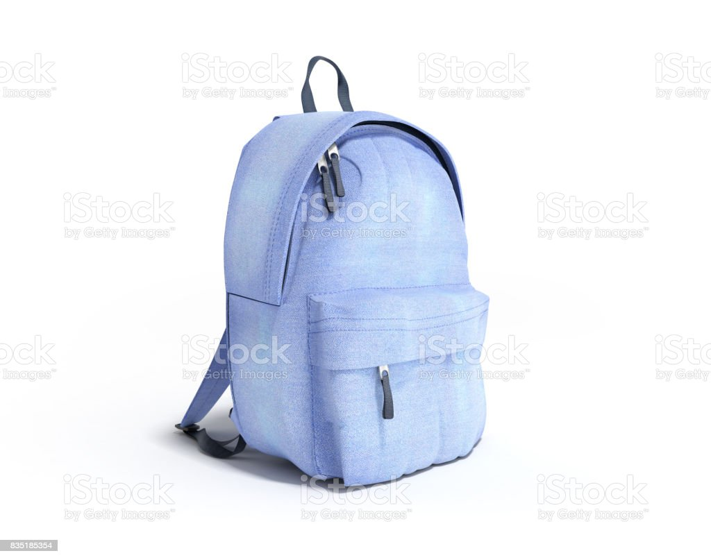 Backpack bag school 3d render on white стоковое фото