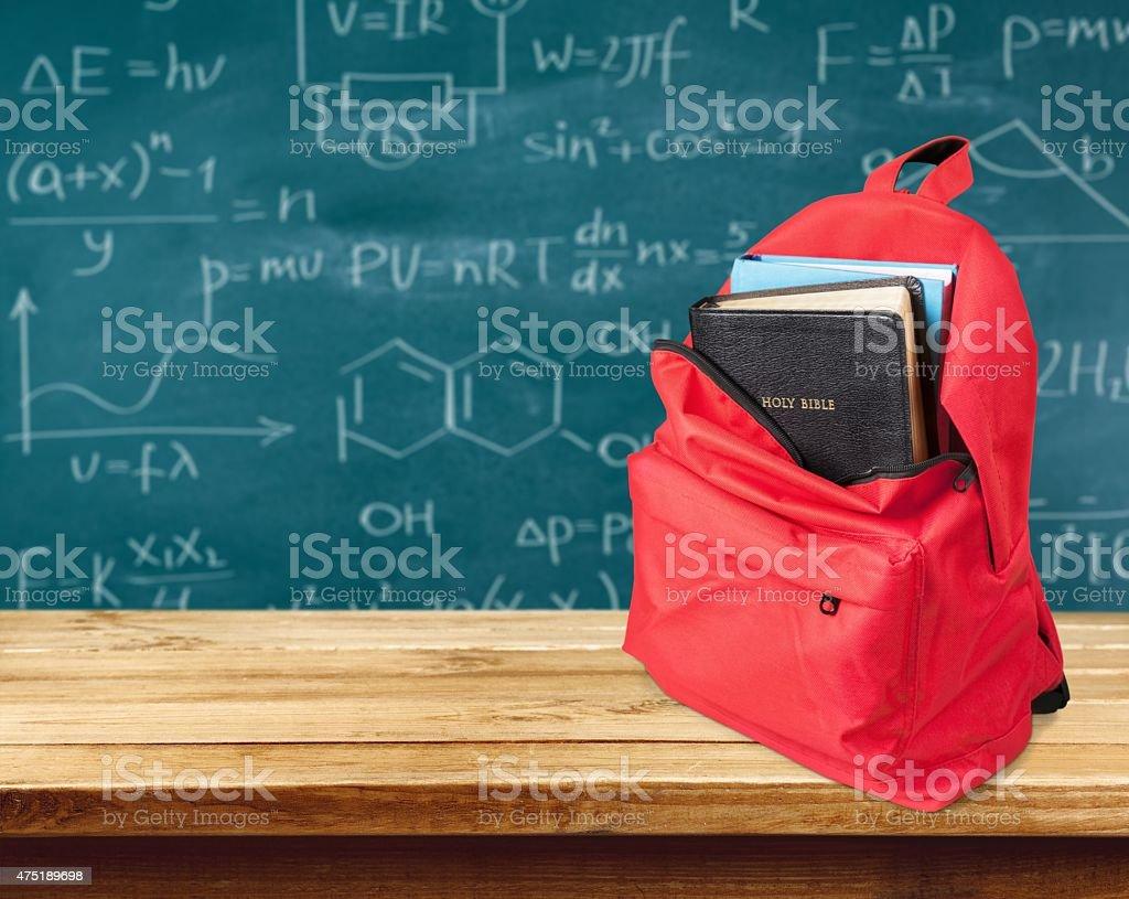 Backpack, Bible, Book Bag stock photo