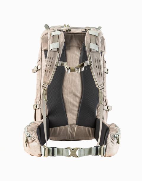 Rucksack zum Wandern und Jagen. Hellbraunes Design geeignet für den Wald. – Foto