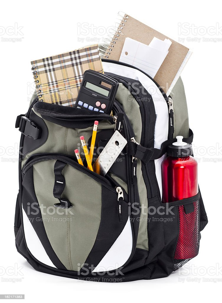 Backpack Isolated on a White Background stock photo