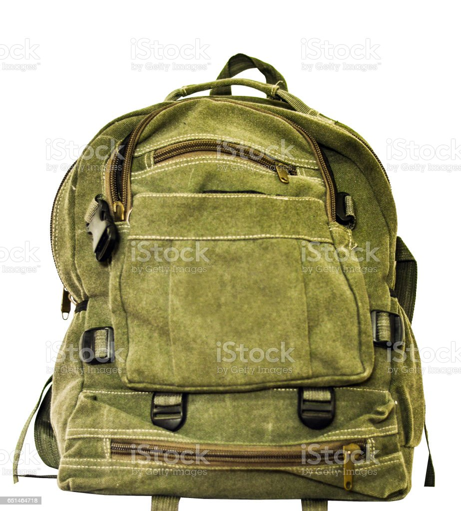 Backpack isolated on white stock photo
