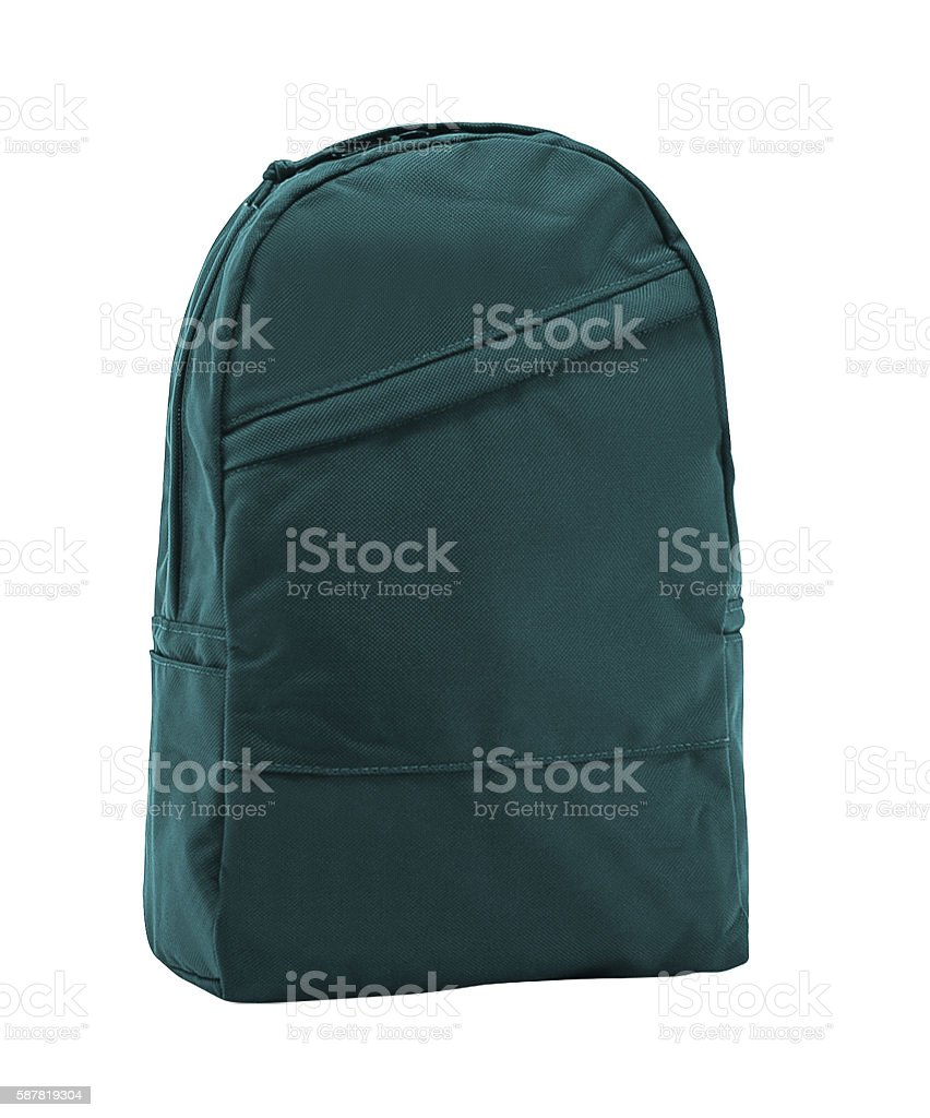 backpack isolated stock photo