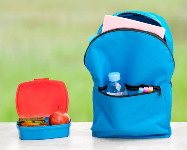 Backpack school stock photo