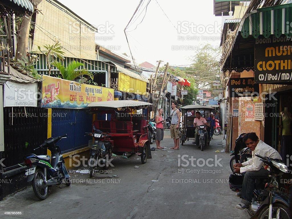 Backpacker area, Boeung Kak - Phnom Penh Cambodia royalty-free stock photo