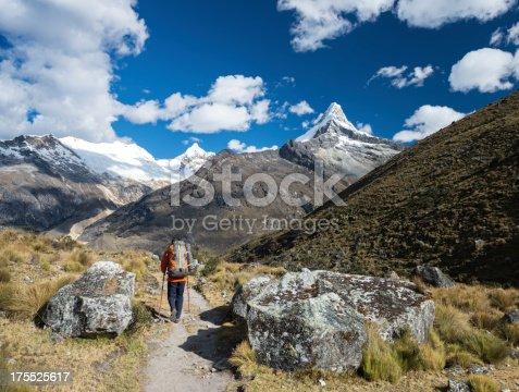 istock Backpacker in Cordillera Blanca 175525617