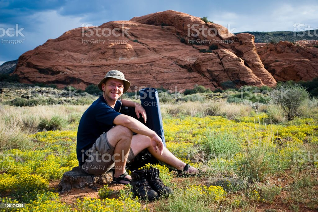 Backpacker royalty-free stock photo