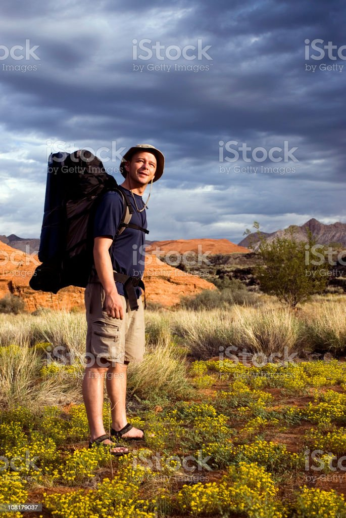 Backpacker royalty-free stock photo
