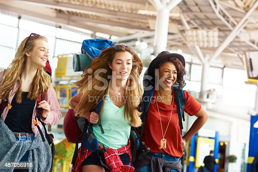 istock Backpacking friends undertake the next part of their journey 487056916