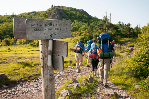 Backpacking in Grayson Highlands State Park, Virginia