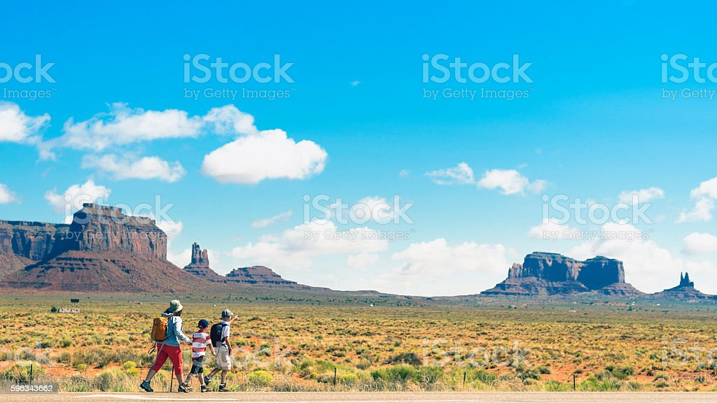 Backpacking in Utah royalty-free stock photo